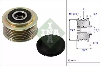 Механизм свободного хода генератора 535 0225 10 INA