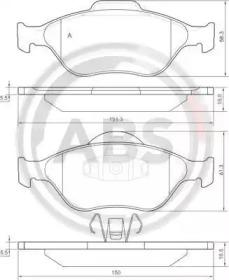 Комплект тормозных колодок, дисковый тормоз 37195 A.B.S.