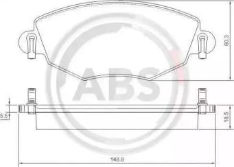 Комплект тормозных колодок, дисковый тормоз 37215 A.B.S.