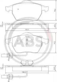 Комплект тормозных колодок, дисковый тормоз 37239 A.B.S.