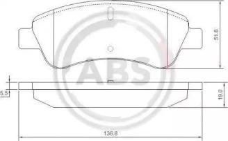 Комплект тормозных колодок, дисковый тормоз 37272 A.B.S.