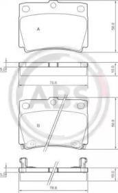 Комплект тормозных колодок, дисковый тормоз 37284 A.B.S.