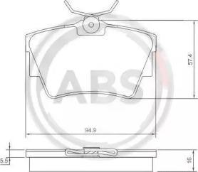 Комплект тормозных колодок, дисковый тормоз 37288 A.B.S.