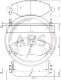 Комплект тормозных колодок, дисковый тормоз 37309 A.B.S.