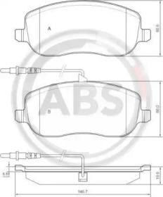 Комплект тормозных колодок, дисковый тормоз 37329 A.B.S.