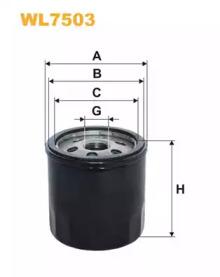 Масляный фильтр WL7503 WIX FILTERS
