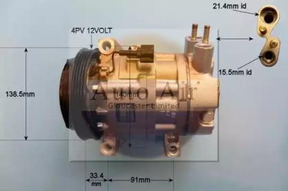 Компрессор, кондиционер 14-6206 AUTO AIR GLOUCESTER